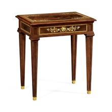 Mahogany side table with mother of pearl & marquetry