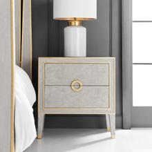 Retro Nightstand- Antique Grey