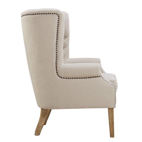 Abe Beige Linen Chair