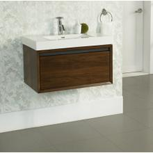 """See Details - m4 30x18"""" Wall Mount Vanity - Natural Walnut"""