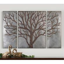 Winter View Metal Wall Decor, S/3