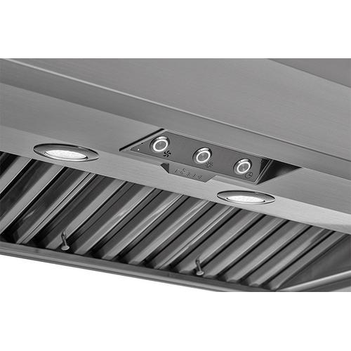 "48"" Pro Wall Hood, 18"" High, Silver Stainless Steel"