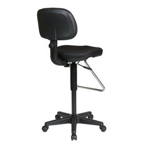 Economical Chair With Chrome Teardrop Footrest