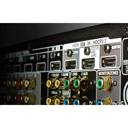 Denon - (2020 Model) 11.2 Ch. 8K AV Receiver with 3D Audio, HEOS® Built-in and Voice Control
