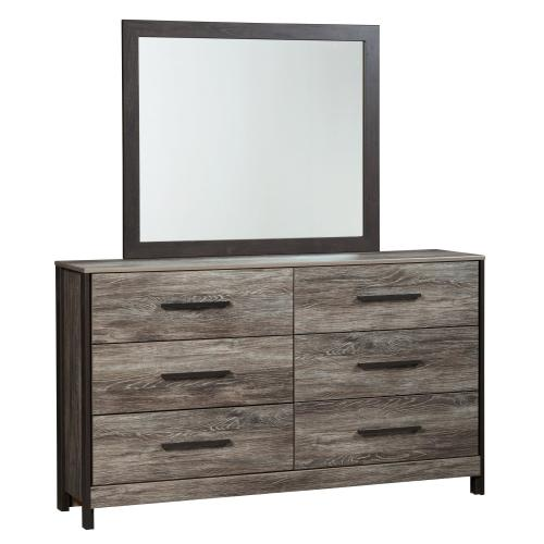 King/california King Panel Headboard With Mirrored Dresser