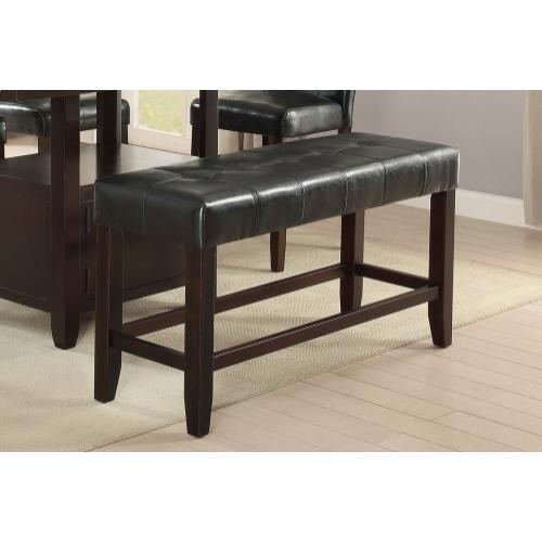 Gallery - Karpos Counter Height Bench, Black