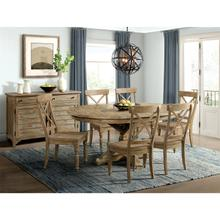 View Product - Sonora - Round Dining Table Top - Snowy Desert Finish