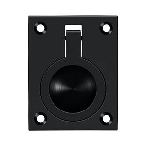 "Deltana - Flush Ring Pull, 2-1/2"" x 1-7/8"" - Paint Black"
