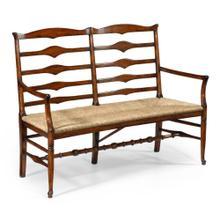 See Details - Double ladder back bench