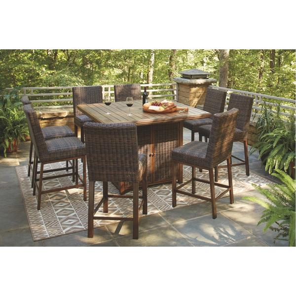See Details - Outdoor Dining Table and 8 Chairs