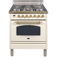 30 Inch Antique White Liquid Propane Freestanding Range