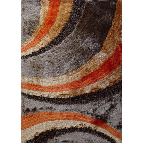 "Designer Shag S.V.D. 55 Area Rug by Rug Factory Plus - 7'6"" x 10'3"" / Orange"