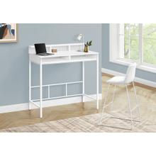 See Details - OFFICE CHAIR - WHITE LEATHER-LOOK / STAND-UP DESK