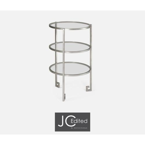 Silver iron end table