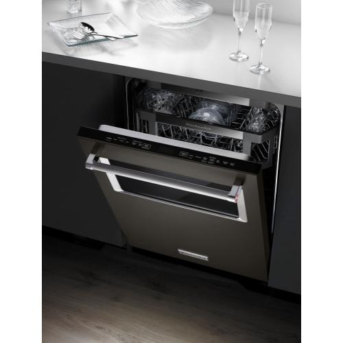 Gallery - 44 dBA Dishwasher with Window and Lighted Interior - Black Stainless Steel with PrintShield™ Finish