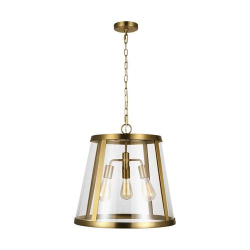 Harrow Large Pendant Burnished Brass