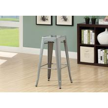 """See Details - BARSTOOL - 2PCS / 30""""H / SILVER GALVANIZED METAL CAFE"""