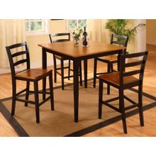 Oak and Black 5 Pc Pub Set