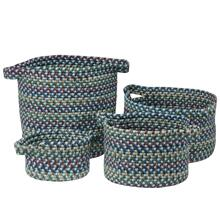 "American Farmhouse 4-Set Vintage Bskts Basket AF67 French Blue 10"" X 7"""