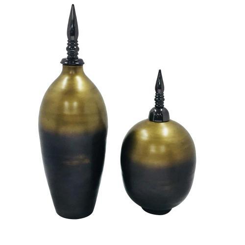 Paschal Lidded Urns,Set of 2