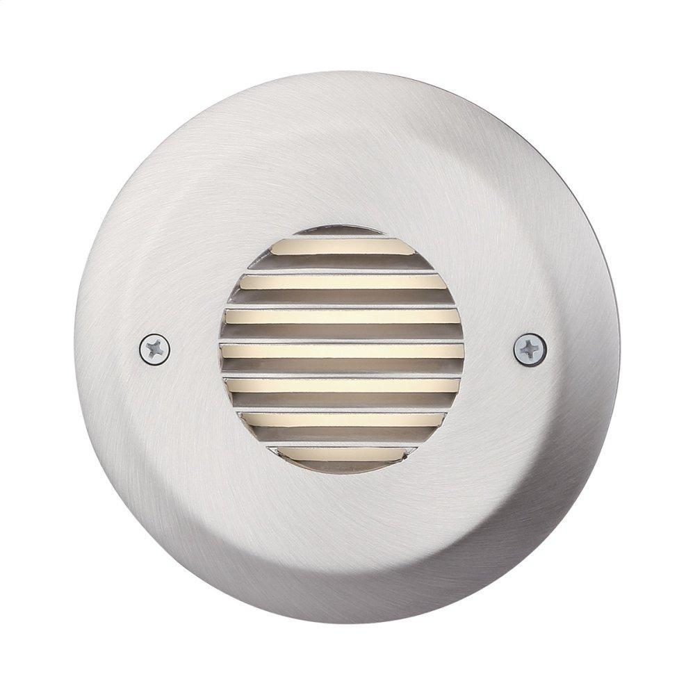 See Details - ROUND LOUVERED TRIM LED STEP LIGHT - Brushed Nickel