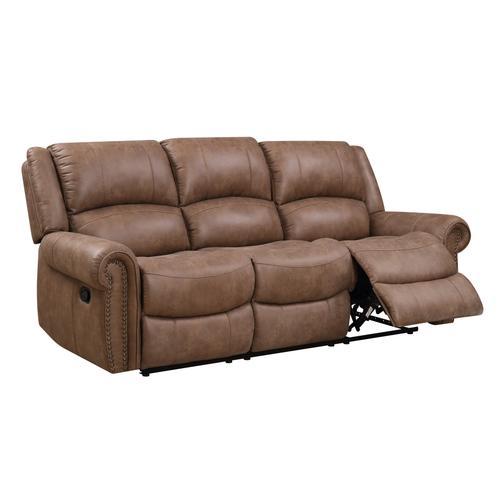 Spencer Reclining Sofa, Brown U7122-00-25