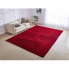 "Soft Three Dimensional Polyester Viscose Hand Tufted 3D 305 Shag Area Rug by Rug Factory Plus - 7'6"" x 10'3"" / Red"