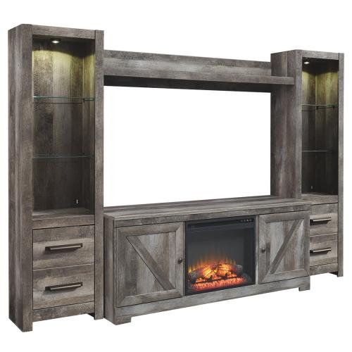 Signature Design By Ashley - Wynnlow 4-piece Entertainment Center With Fireplace