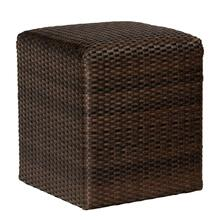 Martine Reticulated Cube in Black Olive