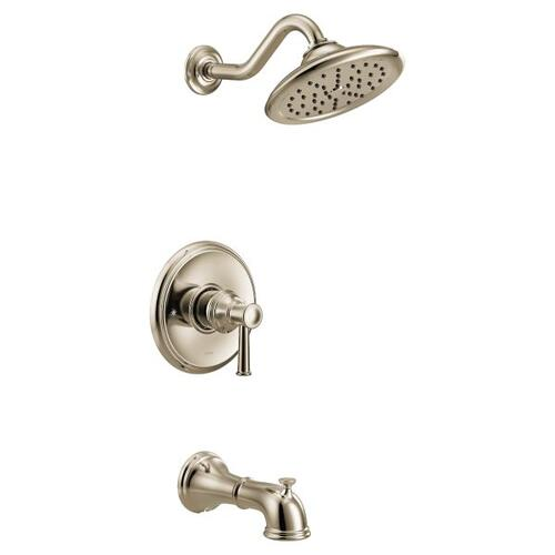 Belfield polished nickel m-core 3-series tub/shower
