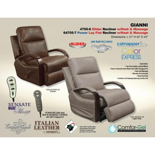 Power Lay Flat Recliner w/Heat & Massage