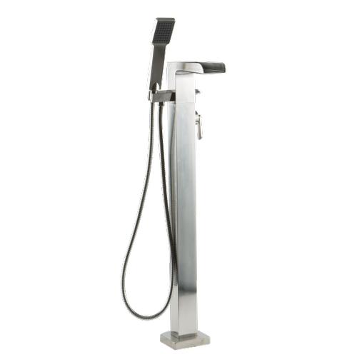 Kascade Floor Mount Tub Filler with Handshower - Trim Kit Only Brushed Nickel