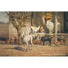 """View Product - The Neighbors-Farm Animals - Limited Edition Print 16""""H x 24""""W"""