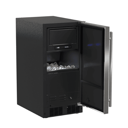 Gallery - 15-In Low Profile Built-In Clear Ice Machine, Gravity Drain Application with Door Style - Stainless Steel