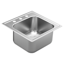 "2000 Series 20"" x 20"" stainless steel 20 gauge single bowl drop in sink"