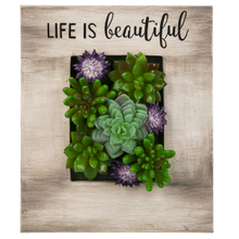 Plaque - Life is Beautiful with Succulents