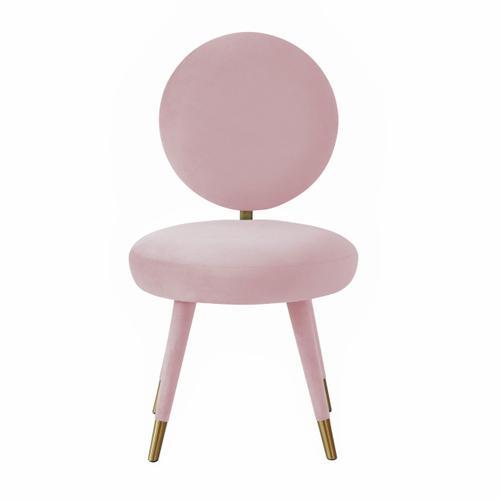 Tov Furniture - Kylie Bubblegum Velvet Dining Chair