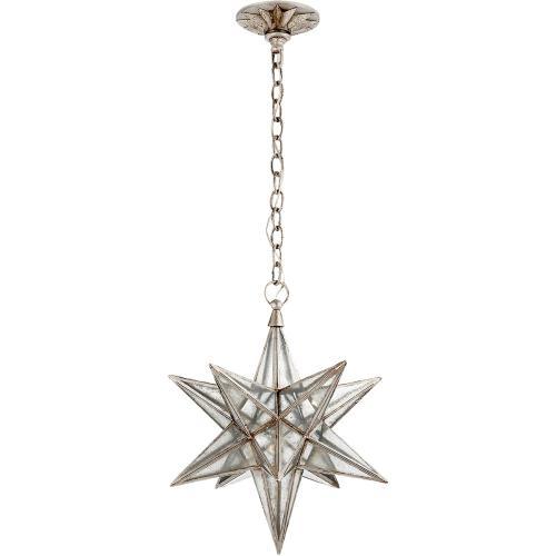 Visual Comfort CHC5211BSL-AM E. F. Chapman Moravian Star 1 Light 18 inch Burnished Silver Leaf Pendant Ceiling Light