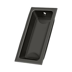 "Flush Pull, Large, 3-5/8"" x 1-3/4"" x 1/2"" - Oil-rubbed Bronze"