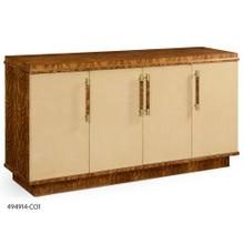 Hyedua and ivory finish sideboard with four doors