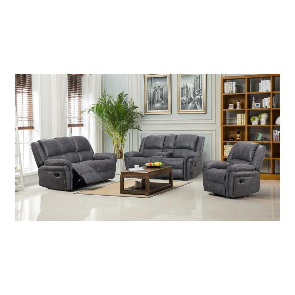 Socorro Reclining Sofa, Console Loveseat & Recliner, M7625