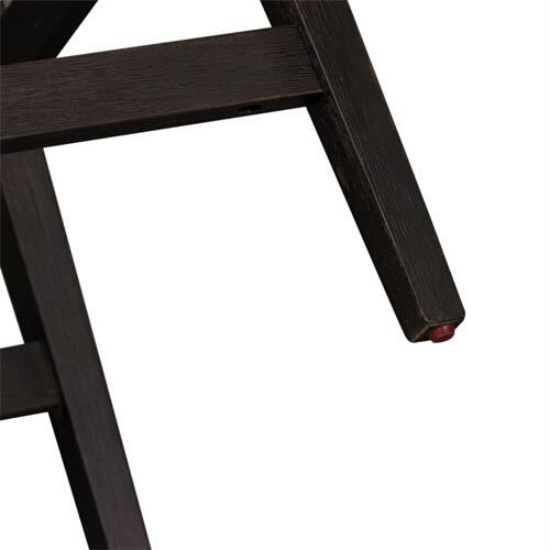 Slat Back Counter Height Chair (RTA) - Black