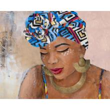Framed - Adorned African Woman I By Lanie Loreth