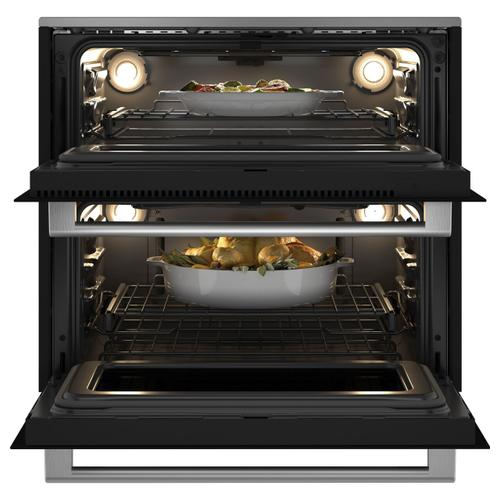 "Café Minimal Series 30"" Smart Built-In Twin Flex Single Wall Oven in Platinum Glass"
