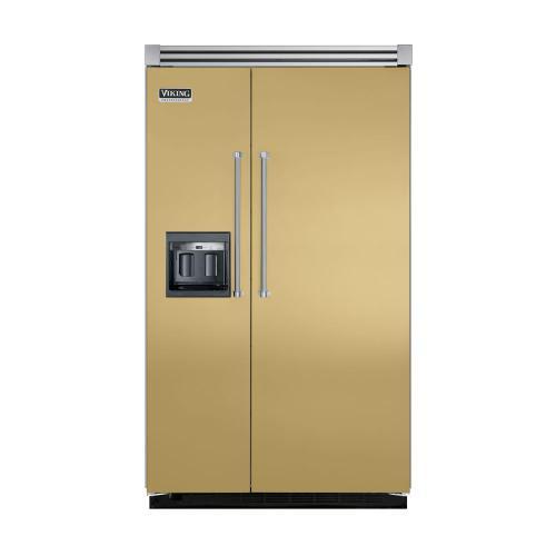 """Viking - Golden Mist 48"""" Side-by-Side Refrigerator/Freezer with Dispenser - VISB (Integrated Installation)"""