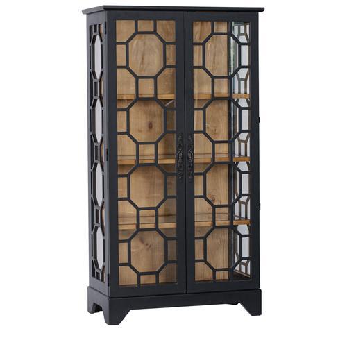 Livingston 2 Wood and Glass Door Curio