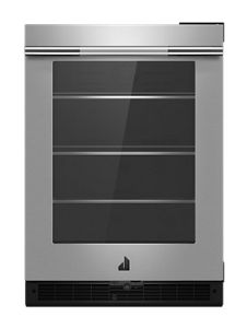 """RISE 24"""" Under Counter Glass Door Refrigerator, Right Swing"""