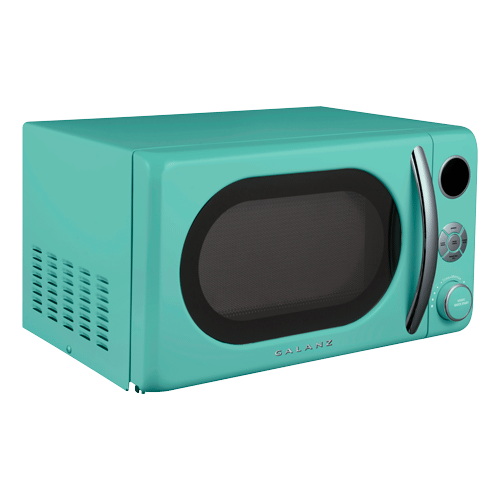 Galanz 0.7 Cu Ft Retro Microwave Oven in Surf Green