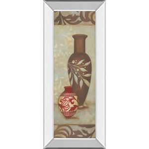 """Brown Vase"" By Stephanie Marrott Mirror Framed Print Wall Art"