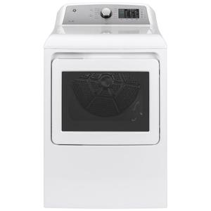 GE® 7.4 cu. ft. Capacity aluminized alloy drum Electric Dryer with Sanitize Cycle and HE Sensor Dry Product Image